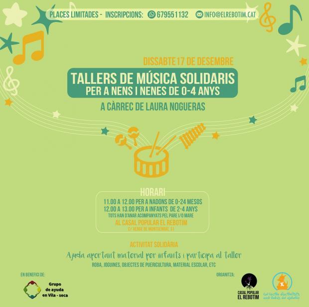 Tallers de música solidaris a Vila-seca